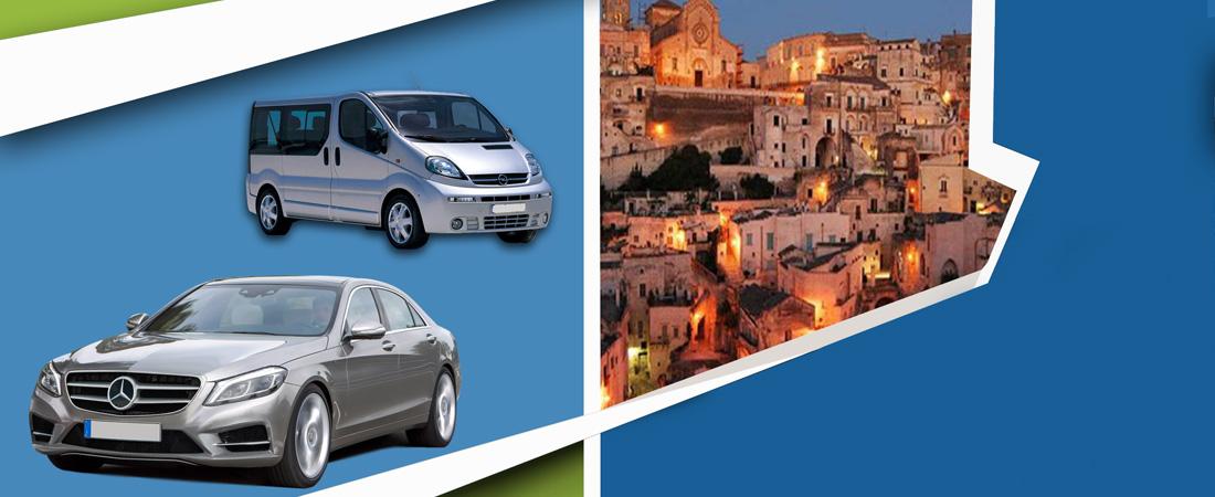 Transfer Bari Matera con auto o navetta automobili con autista con esperienza
